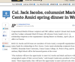 Col. Jack Jacobs, columnist Mark Di Ionno to speak at Cento Amici spring dinner in Warren, April 15