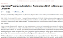 Imprimis Pharmaceuticals Inc. Announces Shift in Strategic Direction