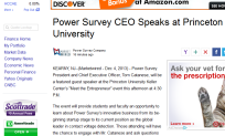 Power Survey CEO Princeton