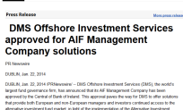 DMS Offshore Investment Services approved for AIF Management Company solutions