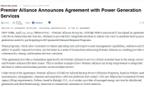 Premier Alliance Announces Agreement with Power Generation Services
