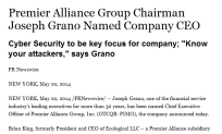 Premier Alliance Group Chairman Joseph Grano Named Company CEO