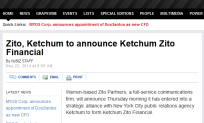 Zito Ketchum to announce Ketchum Zito Financial