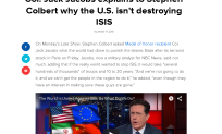 Col Jacobs talks ISIS with Colbert
