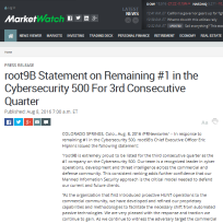 root9B Statement on Remaining 1 in the Cybersecurity 500