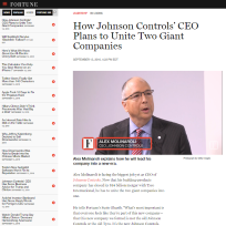 Johnson Controls CEO on leadership