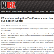 Zito Partners launches business incubator