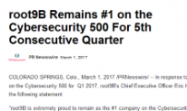 root9B Remains first on the Cybersecurity 500 For 5th Consecutive Quarter