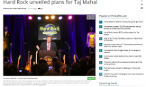 Hard Rock unveiled plans for Taj Mahal