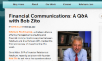 Financial Communications QA with Bob Zito