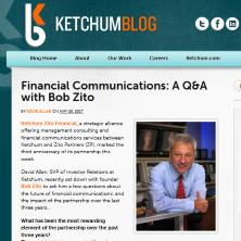 Financial Communications QA with Bob Zito