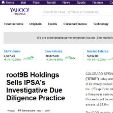 root9B Holdings in Yahoo Finance
