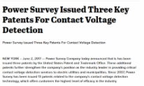 Power Survey Company Issued Three Key Patents
