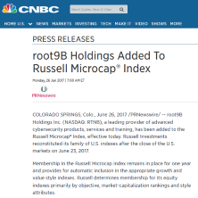 root9B Holdings Added to Russell Microcap Index
