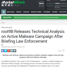 root9B Releases Report on Active Malware Campaign