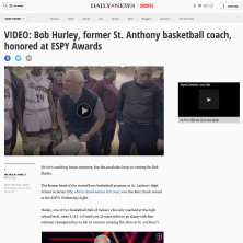 Bob Hurley Wins ESPY for Best Coach zp
