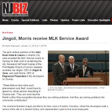 Jack Morris and Joe Jingoli Receive MLK Service Award