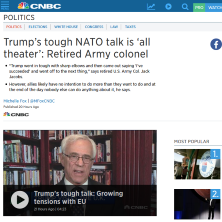 Col Jacobs on POTUS and NATO