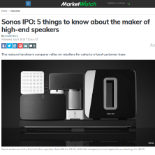 EquityZen's Phil Haslett on the Sonos IPO in MarketWatch
