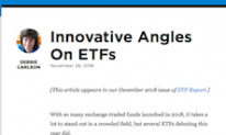 Innovative Angles On ETFs