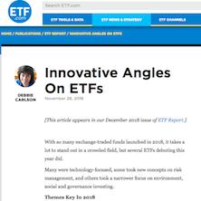 Innovative Angles On ETFs