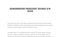 Remembering George H.W. Bush
