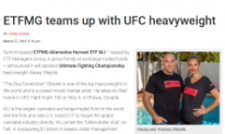 ETFMG Teams Up with UFC Heavyweight Alexey Oleynik