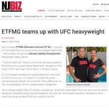 ETFMG Teams Up with UFC Heavyweight Alexey Oleynik