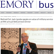 Col Jacobs On The Value of Service