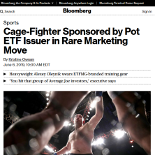 ETFMG MJ in Bloomberg