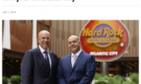 Jack Morris and Joe Jingoli at the Hard Rock Hotel and Casino Atlantic City one year after Hard Rock launch