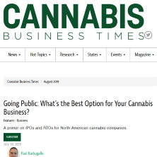 First part of the Cannabis Business Times with Jason Wilson