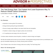 Teal Energy Deal published on AdvisorPerspectives