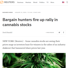 Jason quoted and MJ in Reuters