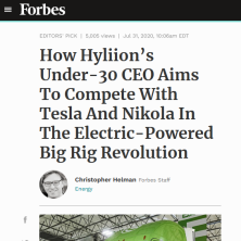 Hyliion and Tortoise Acquisition Corp in Forbes
